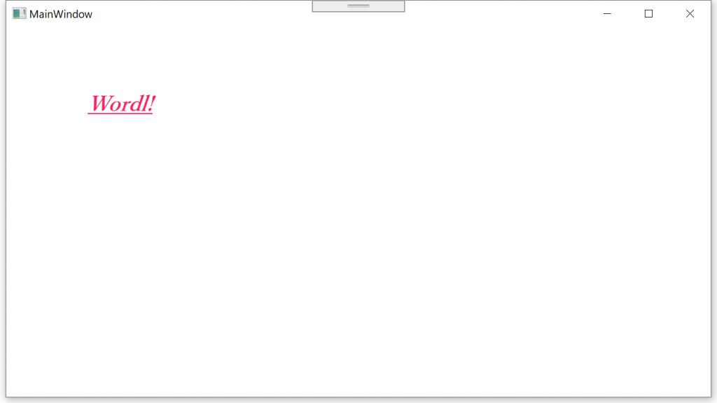 TextBlock変更した時の実行画面