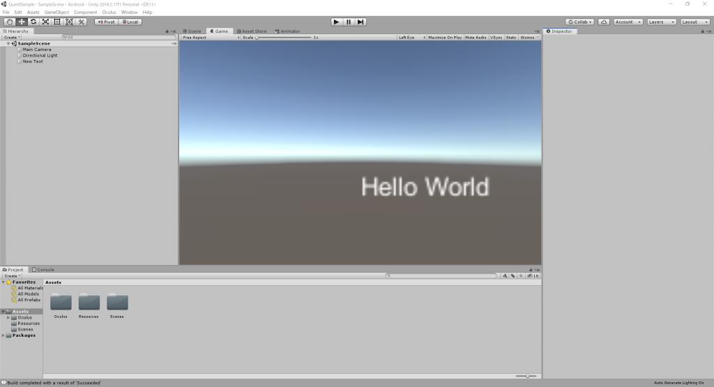 Unityのシーンに3Dテキストオブジェクトを追加