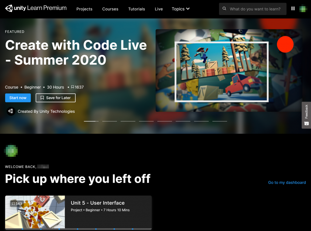 Unity Learn サイト
