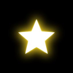 星アイコン 発光処理後