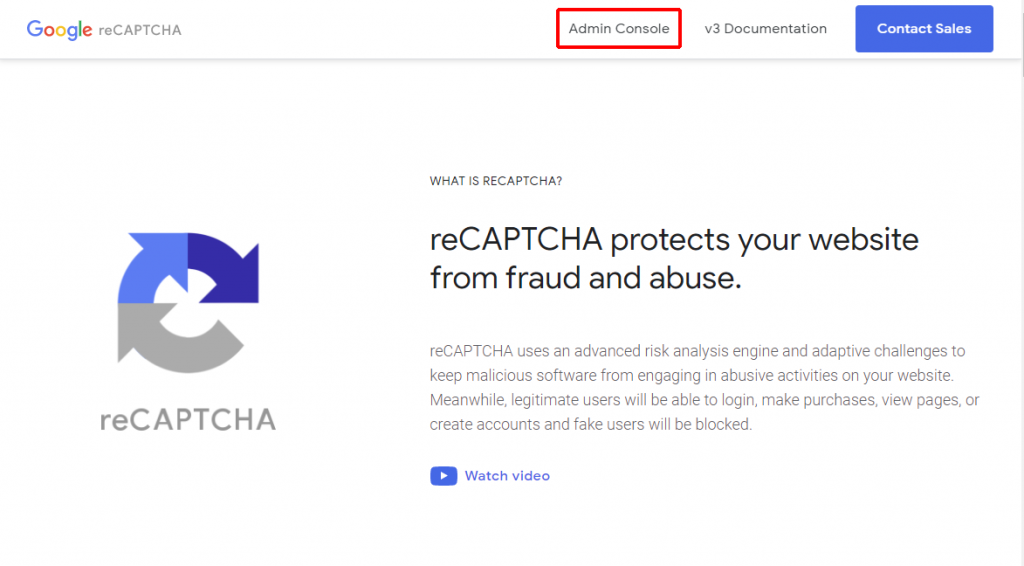Google reCAPTCHA 公式サイト