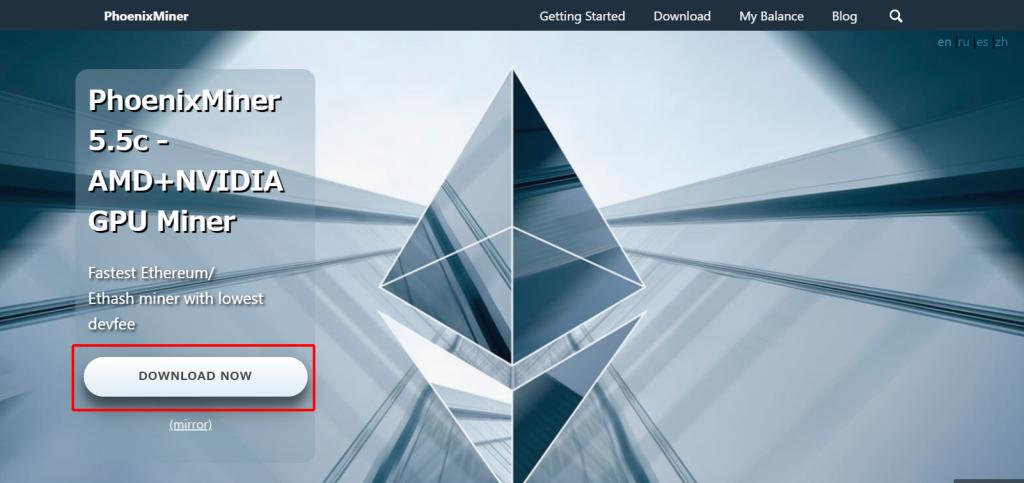 PhoenixMiner 公式サイト